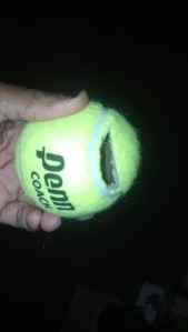 2_Cut Tennis ball