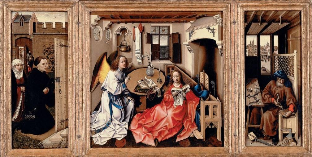 meorde altarpiece, campin